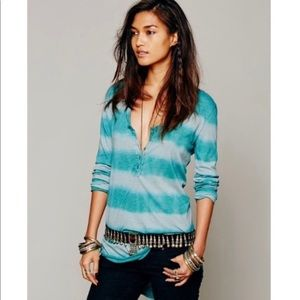 Free People We The Free Radical Tie Dye Henley